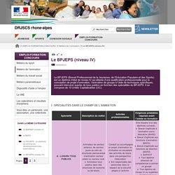 Le BPJEPS (niveau IV)