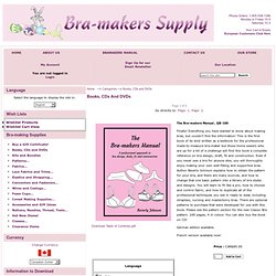 Bra-makers Supply - Books, CDs and DVDs