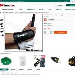 Andux Golf Wrist Braceband Swing Training trainer Correct Cocking Aid Hw/02