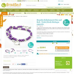 Bracelet d'allaitement Chic and Roll - Violet/Etoile Breloque argentée - So Mama