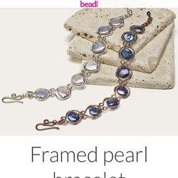 Framed pearl bracelet