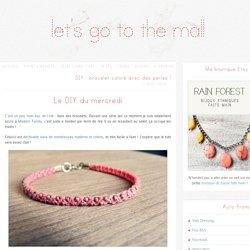 DIY : bracelet coloré avec des perles !