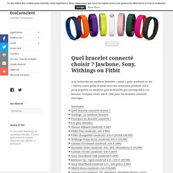 Quel bracelet connecté choisir ? Jawbone, Sony, Withings ou Fitbit – EcoConscient