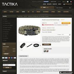 Bracelet en paracord Colt Tactical (double tissage) - Tactika
