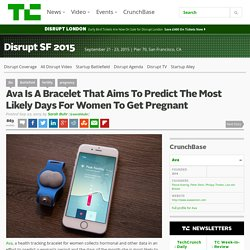 Ava Is A Bracelet That Aims To Predict The Most Likely Days For Women To Get Pregnant