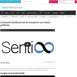 Le bracelet Senti8 permet de transporter ses odeurs préférées