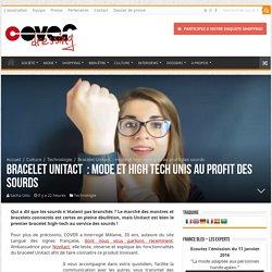 Bracelet Unitact : mode et high tech unis au profit des sourds