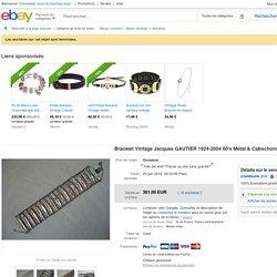 Bracelet Vintage Jacques Gautier 1924 2004 60 039 S Métal AMP Cabochons Émaux Bangle