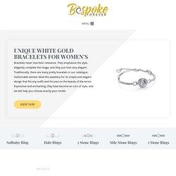 Buy Unique White Gold Bracelets for Women's