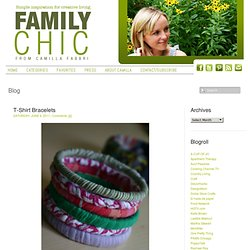 T-Shirt Bracelets | Family Chic