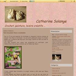 Tuto bracelets fleurs crochetées - Le blog de Catherine Solange