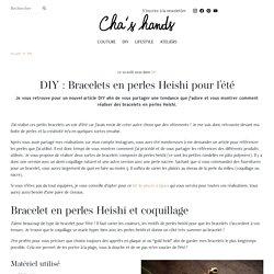 DIY : Bracelets en perles Heishi pour l'été
