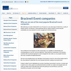 Need an experienced event company in Bracknell? Check out Effective Event Solutions