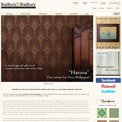 Bradbury & Bradbury Art Wallpapers | Historic Wallpapers | Victorian, Arts & Crafts, Art Deco, Damask, '40s, '50s and '60s Wallcoverings