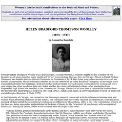Helen Bradford Thompson Woolley