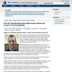 03-16 Bradley Manning's plight rouses interest and concern in the UK (Updated)