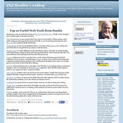 Phil Bradley's weblog: Top 10 Useful Web Tools