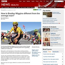 How is Bradley Wiggins different from the average man?