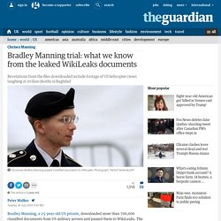 Bradley Manning trial: what we know from the leaked WikiLeaks documents
