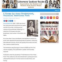 ELAR: 5 Poems by Anne Bradstreet, Colonial American Poet