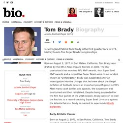 Tom Brady - Athlete, Football Player