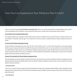 How You Can Supplement Your Medicare Plan In Utah?