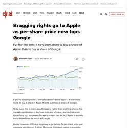 Bragging rights go to Apple as per-share price now tops Google | Apple