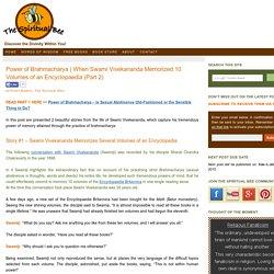 Swami Vivekananda's Extraordinary Memory