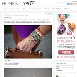 DIY Braided Bead Bracelet - Honestly WTF - StumbleUpon
