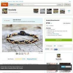 Bracelet tresse perlée