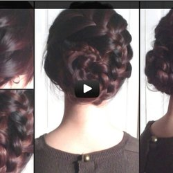 Braided Coiled Snake Updo