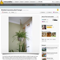 Braided macrame plant hanger
