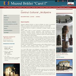 """Braila, Muzeul Brailei - Arta - Centrul Cultural """"Nicăpetre"""