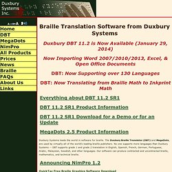Duxbury Systems Corporate Site