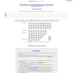 Brailleschrift entziffern, Braille-Decoder / www.fakoo.de