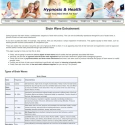 Brain Wave Entrainment and Hypnosis