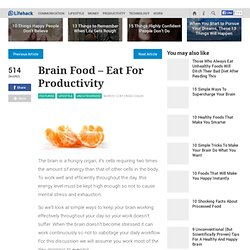 Brain Food - Eat For Productivity