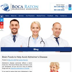Brain Foods to Help Avoid Alzheimer's Disease