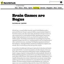 Brain Games are Bogus