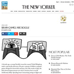 Brain Games are Bogus