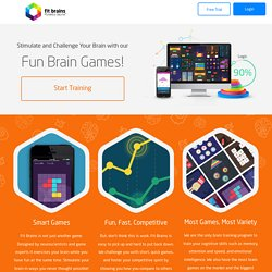 Brain Games, Brain Training & Brain Fitness — Fitbrains.com