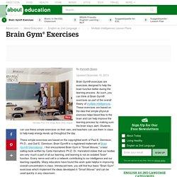 Brain Gym® Exercises