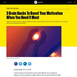 3 Brain Hacks To Boost Your Motivation When You Need It Most