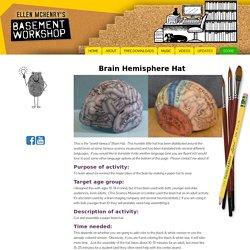 > Brain Hemisphere Hat (made of paper)