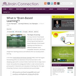 "What is ""Brain-Based Learning""? - Brain Connection"