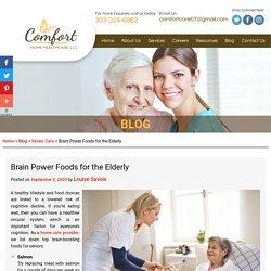 Brain Power Foods for the Elderly