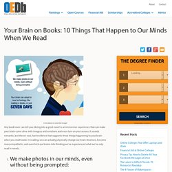 Your Brain on Books: 10 Things That Happen to Our Minds When We Read