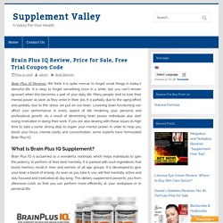 Brain Plus IQ Review, Price for sale, Free Trial Coupon Code