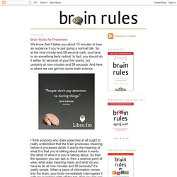 *Brain Rules for Presenters
