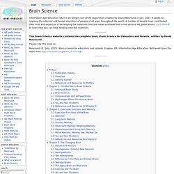 Brain Science - IAE-Pedia